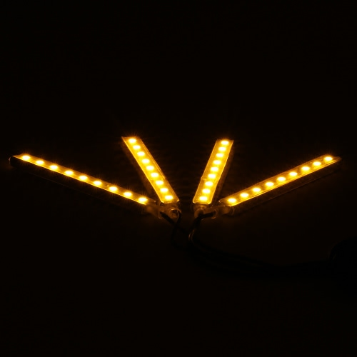 4 in 1 LED Interior Atmosphere Light Bar Car Auto Romantic Decoration Lamp Kit 12V