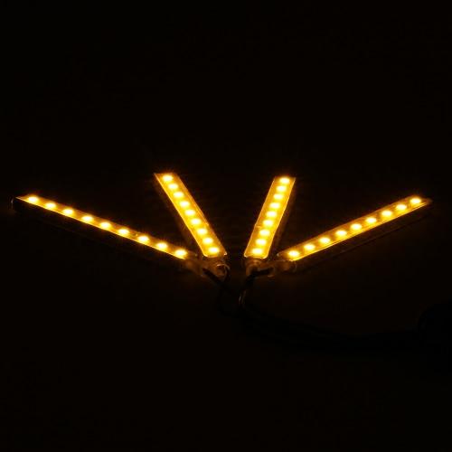 4 en 1 Ambiance LED Intérieur Light Bar Car Auto lampe de décoration romantique Kit 12V