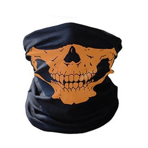 Coiffe multifonctionnelle non coiffée Casque de crâne Bandana Casque Masque facial Mascotte thermique Protège Halloween