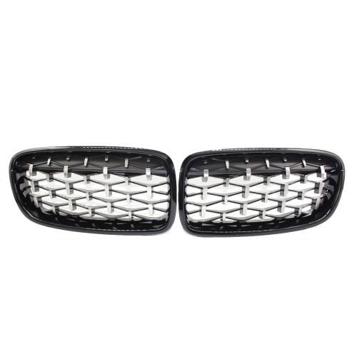 Rejilla frontal para riñones Nuevo Meteor Semi-plateado en negro para BMW F30 328i 335i 2012-2016