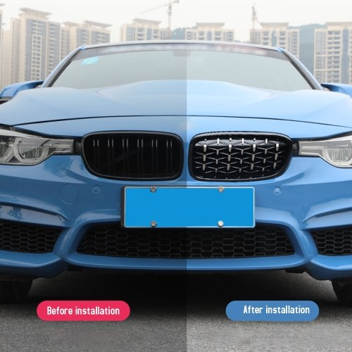 Front Kidney Grille New Meteor Plating Fit For BMW F30 328i 335i 2012-2016