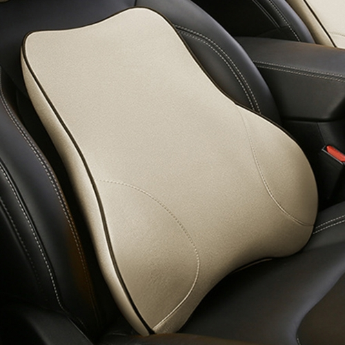 Car Seat Lumbar Cushion Memory Foam Back Brace Pillow Supports Ergonomics Auto Accessories Waist Pillows