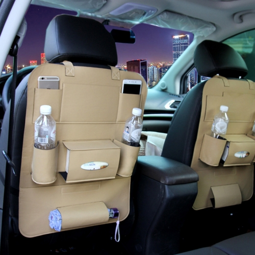 40 * 56CM Car Seat Organizer Multifunctional Storage Bag Hanger Leather Seat Back Cover Storing Pocket Pouch