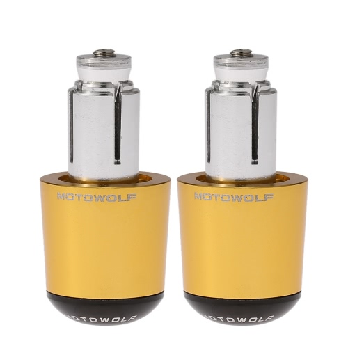 Pair of Universal Motorcycle Motorbike Aluminum Handlebar Bar Ends Plugs Grip Caps
