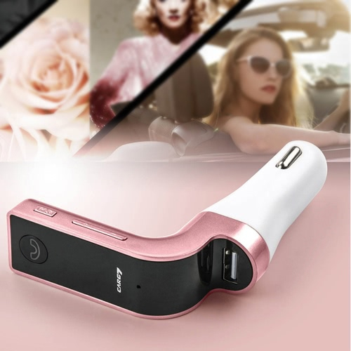 Car MP3 Music Player Wireless Handsfree Call FM Transmitter Support USB Disk TF Card Fast Charging Car Charger