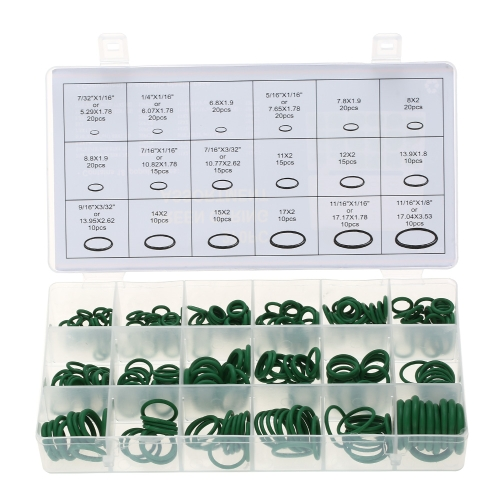 270pcs Assortment Kit Car HNBR A / C sistema de ar condicionado O Ring Seals Set Tool