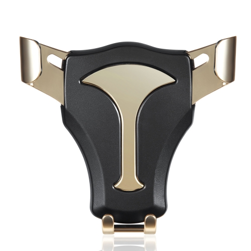 Support de téléphone universel de voiture serrure gravitaire en métal Mobilephone Mount Ox Forme de tête Rotatif Auto Gravity Sensing Clamp