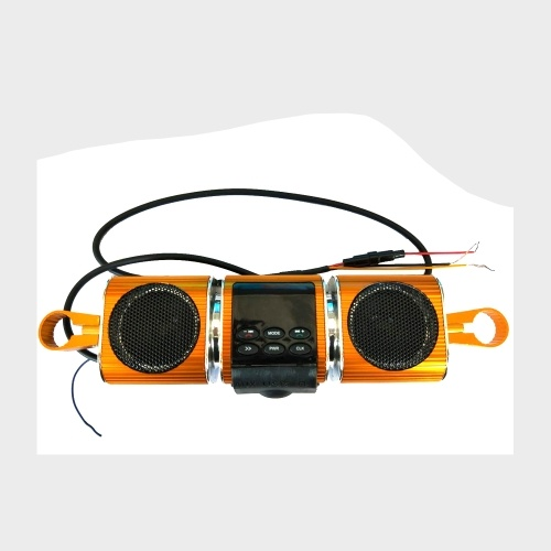 Fine-quality Voice Waterproof Motorcycle Audio Radio Sound System Stereo Speakers BT MP3 FM Striped Aluminum Alloy Power Music Player High Sound Motorcycle TF/USB/AUX Multifunctional