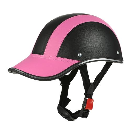 Casque de moto demi-visage de casquette de baseball avec pare-soleil