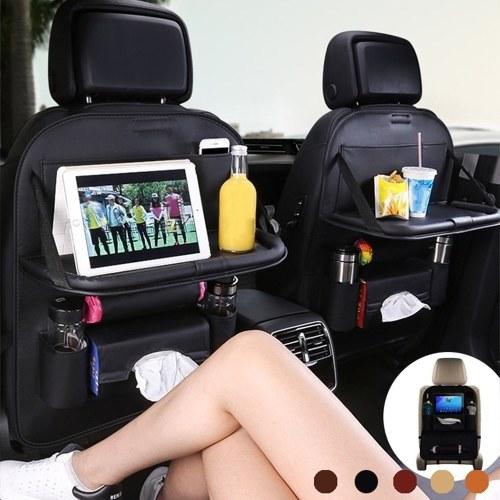 Car Backseat Organizer PU Leather Auto Back Seat Cushion for Kids