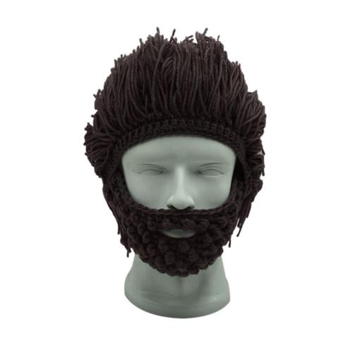 5413f40d694 Wig beard hats hobo mad scientist rasta caveman handmade knit warm ...