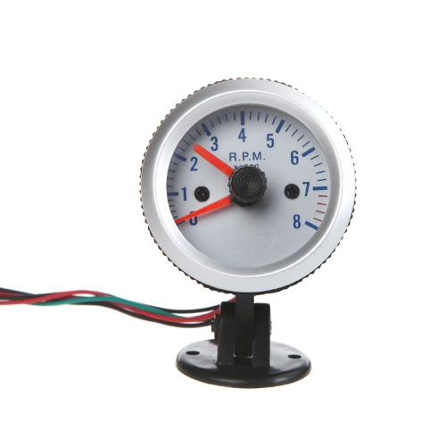 Tachometer Tach Gauge with Holder Cup for Auto Car 2