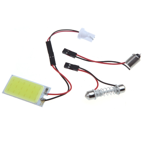 White 5W COB Chip LED Car Interior Light T10 Festoon Dome Adapter Car Vehicle LED Panel