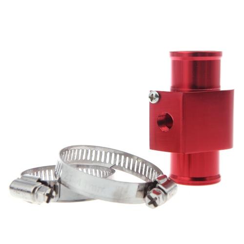 Water Temp Temperature Joint Pipe Sensor Gauge Radiator Hose Adapter 34mm Red