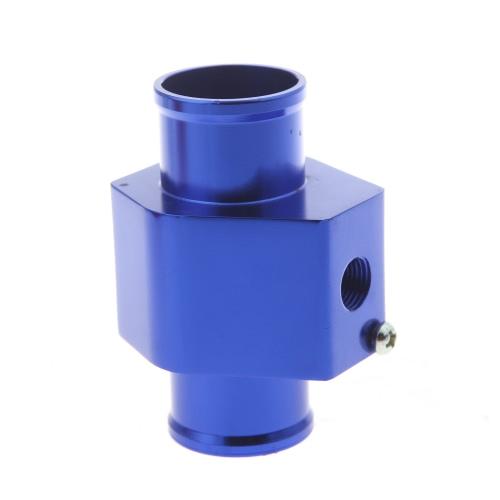 Water Temp Temperature Joint Pipe Sensor Gauge Radiator Hose Adapter 32mm Blue