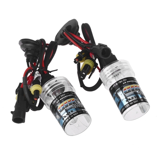 2pcs H1 35W 6000K HID Xenon Replacement Bulb Lamps Light Conversion Kit Car Head Lamp Light