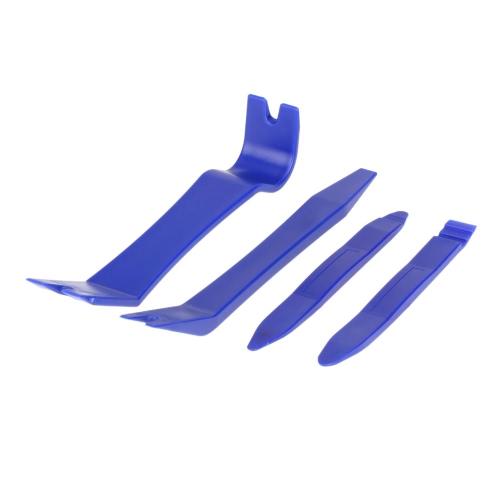 Auto Car Dash Radio Door Clip Panel Trim Removal Tool Set Kit Plastic 4pcs