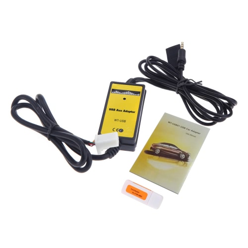 Auto Car USB Aux-in Adapter
