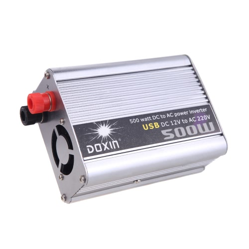 500W Watt DC 12V to AC 220V + USB Portable Voltage Transformer Car Power Inverter