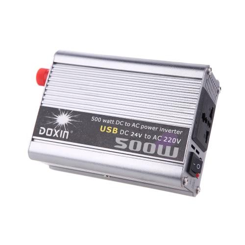 500W Watt DC 24V à 220V AC Power Inverter voiture