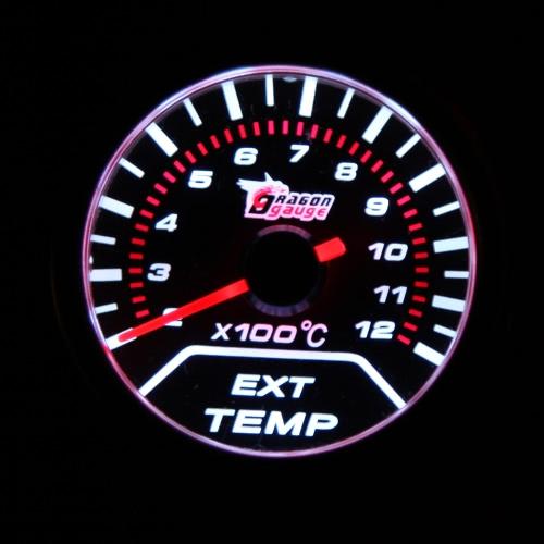 """Image de """"2"""""""" 52mm EGT d'échappement moteur lentille fumée universel indicateur de gaz jauge Temp compteur voiture LED blanche"""""""