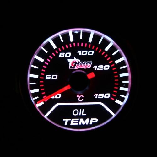 """Silnik samochodowy Uniwersalny obiektyw dymu 2 """"52mm 40-150 ° C Wskaźnik Wskaźnik temp. Oleju Biały LED miernik tempomatu"""