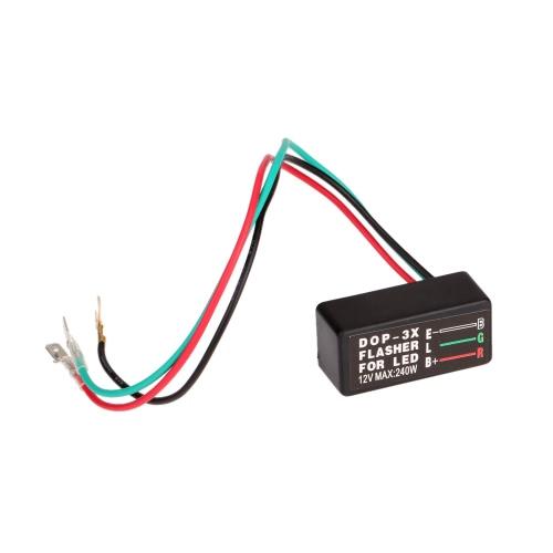 Motos universal LED halógeno intermitente luz intermitente relé intermitente 3 Pin