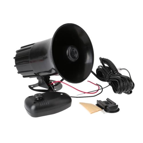 7 sonidos tono coche motos Camiones bocina 12V 50W 150DB altavoz electrónico fuerte sirena alarma altavoz negro