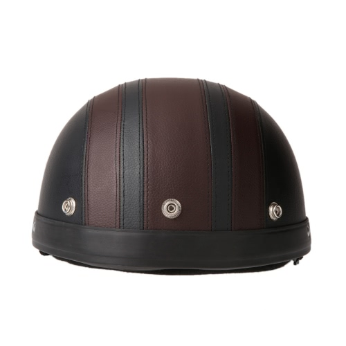 Motorcycle Scooter Open Face Half Leather Helmet фото