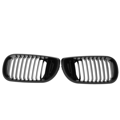 Matt Black Front Kidney Grill Grilles for BMW E46 02-05 4 door 4D 3 Series