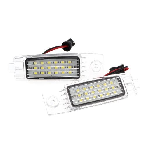 ペア エラーフリー 18 3528 SMD LED ライセンス プレート ライト ランプ トヨタ ハイエース ・ レジアス エース ヴァンガード