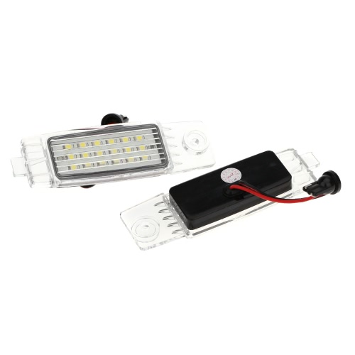 Pair Error Free 18 3528 SMD LED License Plate Light Lamp for Toyota Hiace Regiusace Vanguard
