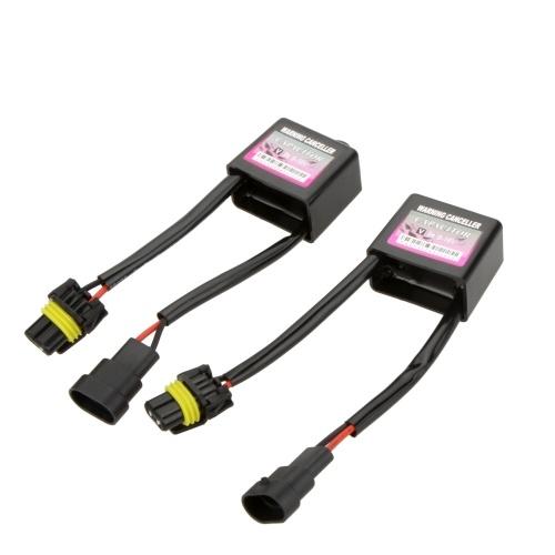 Segunda mano 2Pcs Xenon Kits decodificadores HID Luz HID Relé de la lámpara Condensador Error Advertencia Cancelador Anti-parpadeo