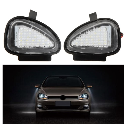 Pair LED Under Side Mirror Lamps for VW Golf 6 Cabriolet Passat (B7) Touran