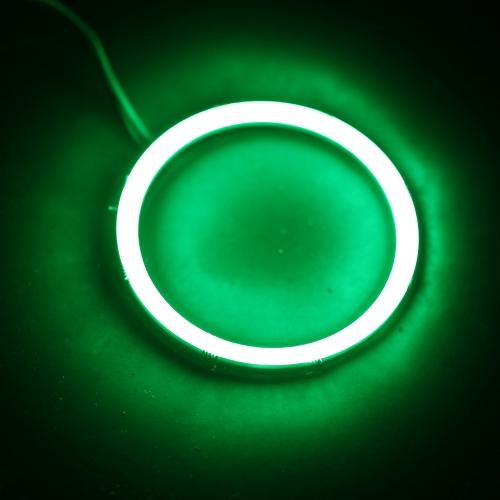 1 Pair of COB Motorcycle Car LED Angel Eyes Headlight Halo Ring 70(MM)