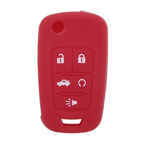 Silicone Car Remote Fob Key Case Cover for Buick Lacrosse Regal 5 buttons