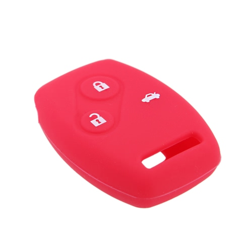 Key Case Cover Car Silicone Skin Fob Shell for Honda Accord Civic Pilot 3 Button