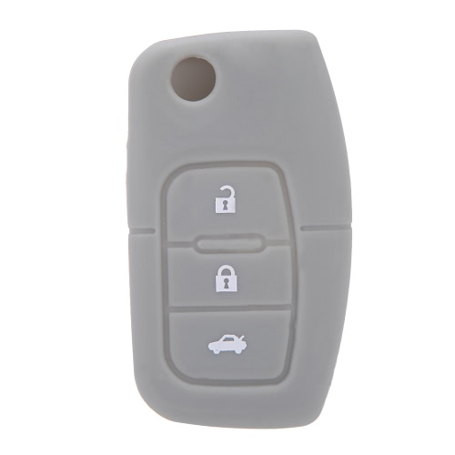Silicone Car Auto Remote Fob Key Holder Case Cover for Ford Focus Fiesta