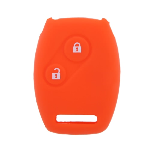 Key Case Cover Car Silicone Skin Fob Shell for Civic Honda Accord CR-V 2 Buttons