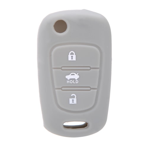 Silicone Key Shell Case Cover Remote Key Fob 3 Button for Kia K2 K5 Pro Ceed