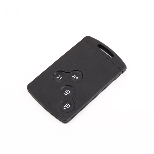 4 Button Uncut Blade Replacement  Remote Key Card Shell Case for Renault