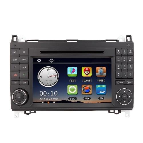 7 «автомобиль радио двойной 2 Din DVD-плеер GPS-Навигаторы в тире автомобиля стерео PC головное устройство для Mercedes-Benz B класса Viano Вито спринтер + бесплатная карта + Free Card