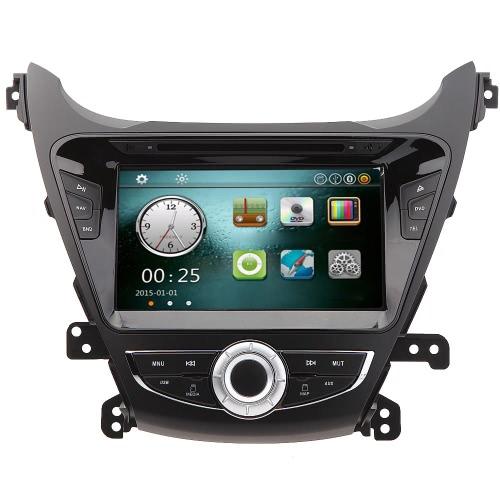 """8"""" voiture lecteur DVD GPS Navigation au tableau de bord voiture Radio Double 2 Din voiture PC stéréo chef unité pour Hyundai Elantra 2014 + carte gratuite, carte gratuite"""