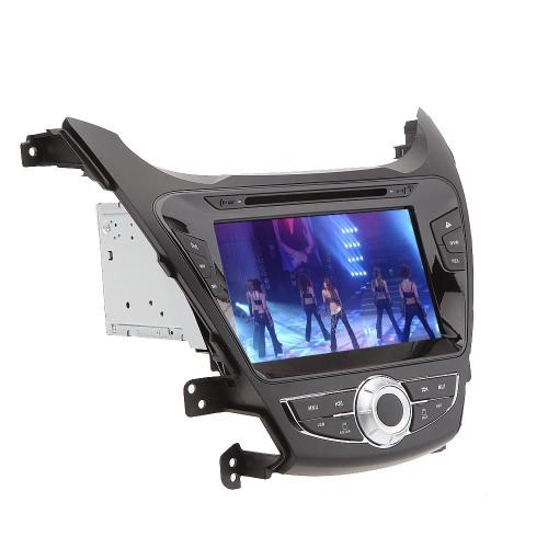 """8 """"Samochodowy odtwarzacz DVD Nawigacja GPS w samochodowym radioodtwarzaczu Dash Double 2 Din Komputer PC Stereofoniczny głośnik samochodowy dla Hyundai Elantra 2011 2012 2013 + darmowa mapa + bezpłatna karta"""