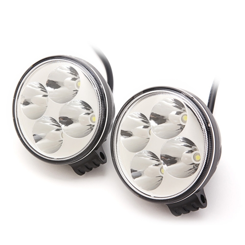 2pc 3inch 2W Round Mini EPISTAR LED Work Lamp Light Spot Beam Off-road Car Truck Boat Light