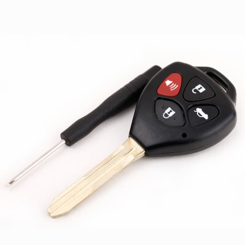 4 Button Uncut Blade Remote Key Shell Case with Screwdriver for Toyota Avalon Camry Corolla