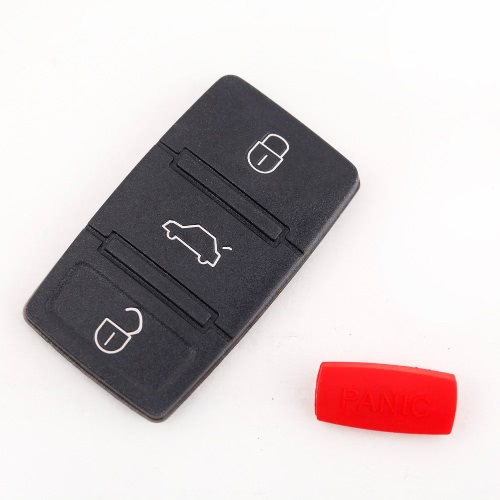 Key Button Pad Replacement 3 Buttons Pad & Panic for Volkswagen