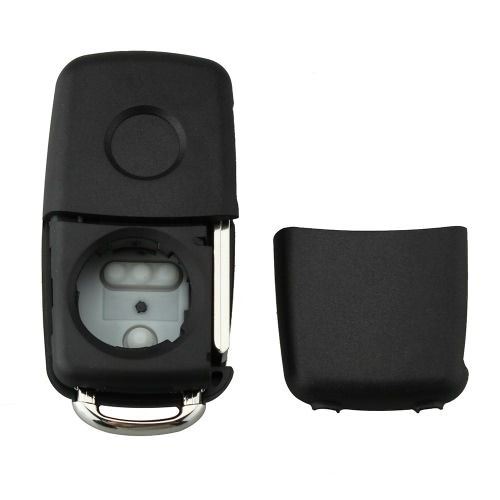 3 Button Flip Remote Folding Key Shell Case for VW Polo Golf MK6 Touareg