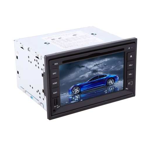 Universal 6.2 inch HD Touch Screen 2 Din Car GPS DVD Player