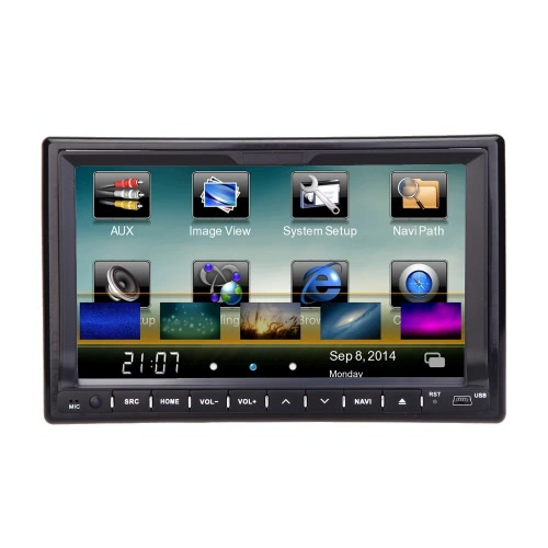 "Universal 7 ""HD Touch Screen GPS 2 Din Car DVD / USB / SD Player"